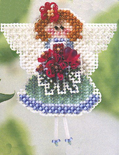 Angeline Beaded Counted Cross Stitch Ornament Kit Mill Hill 2003 Spring Bouquet MHSB78 by Mill Hill (Mill Hill Ornamente)
