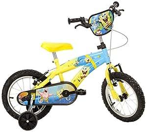 """Bici Bambino Spongebob 14"""" - Bicicletta 4 -7 Anni: Amazon"""