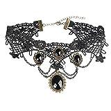 Hosaire Collier für Damen Mädchen, Schwarz Classic Anhänger Tattoo lace-best Dekoration für Sommer Kleid,schwarz