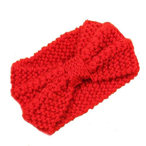 Frauen warme Mütze Ski Hut Stricken leeren Schädel Bean Stirnband - Damen Haarband Unisex-Stil für Männer oder Frauen (Farbe : Rot)