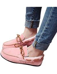 b4243b84 BOZEVON Zapatos Planos Mujer - Estudiante de Invierno Más Fluff de Algodón  Grueso…