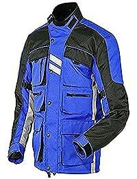 Juicy Trendz Hombres Blindado Impermeable Textil Motocicleta Cordura Chaqueta