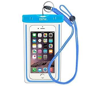 EOTW IPX8 Wasserdichte Tasche, Wasser- und staubdichte Hülle für Geld, Datenträger und Smartphones bis 15,24 cm (6 Zoll), Ideal für den Strand, Wassersport, fürs Radfahren, Angeln, usw. Blau …