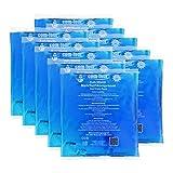 COM-FOUR® Compresse Multiple a Compressione 10x, Fredda e Calda, 13 x 14,5 cm - Microonde Adatte (10 Pezzi - Medio)