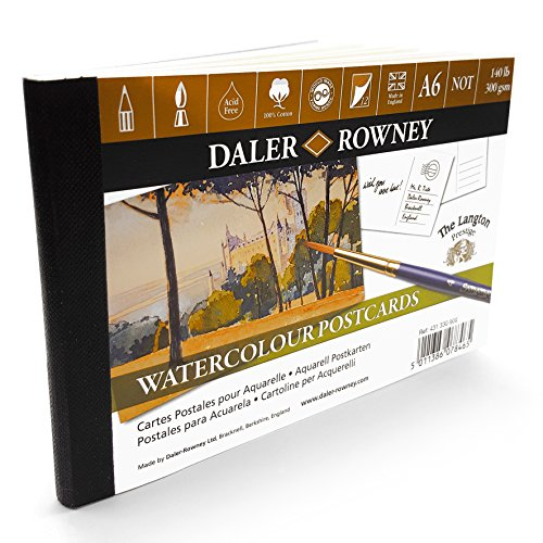 Daler Rowney Aquarells Postkarten A6–12 x 300 gsm Blatt – Made in UK