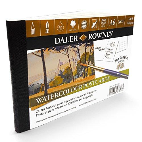 Daler Rowney Aquarells Postkarten A6–12x 300gsm Blatt–Made in UK