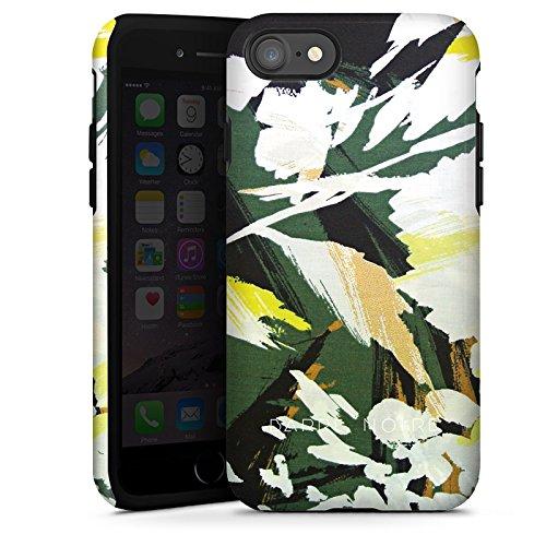Apple iPhone X Silikon Hülle Case Schutzhülle Blumenmuster Blume Muster Tough Case glänzend