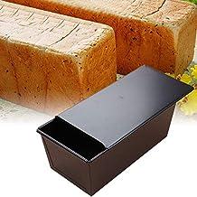 Bandeja de pan antiadherente, molde para pan tostado con tapa Moldes de pan para pan