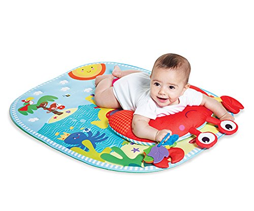 Tiny Love 33312036 Tummy Time Fun Tappeto Gioco, Blu