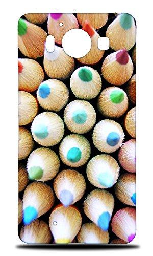 Price comparison product image Foxercases Design Colored Pencils 3 Hard Back Case Cover for Nokia Lumia 950