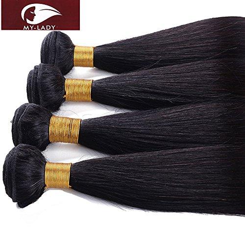 My-lady 7a 300g/pack 50cm 55cm 60cm extension matassa virgin tessitura rinforzata brasiliano 100% human remy hair capelli veri naturali