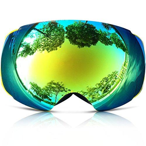 Snow Goggles, ZIONOR Lagopus X4 Snowboard Skibrille 100% UV400 Schutz Anti-Fog Magnet Lens PC Linse Durable TPU Rahmen Voll Venting für Erwachsene und Teenager