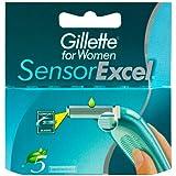 Gillette Sensor Excel - Lames de Rasoir pour Femme - Pack de 5