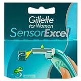 #9: Gillette Sensor Excel For Women Refill Razor Blade Cartridges - Pack of 5