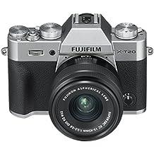 """Fujifilm X-T20 Silver Fotocamera Digitale 24MP con Obiettivo XC15-45mm F3.5-5.6 OIS PZ, Sensore CMOS X-Trans III APS-C, Mirino EVF, Schermo LCD Touchscreen 3\"""" Orientabile, Filmati 4K, Argento"""