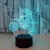 Neues Reitmotorrad 3D beleuchtet buntes Sichtstereolicht LED-Steigungsnotenfernsteuerungssichtlicht 3D Tischlampe bunt: Notenrissunterseite 1000 oder mehr