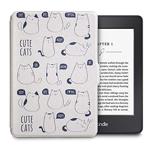 DATOUDATOU Original Light PU-Fall Kindle Paperwhite 1 2 3 6 Zoll E-Book 2012 2013 2015 Cover Smart Auto Sleep/Wake Casual 3 (Kindle 2 Cover Light)