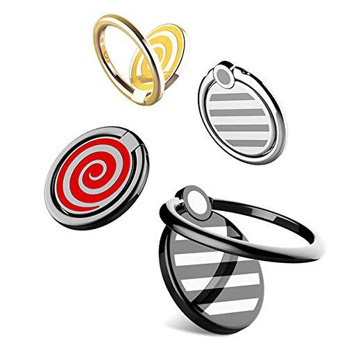K8U152 @FATO Rock 360-Grad-Drehung Super dünne Metall-Finger-Ring Halter Handy-Standplatz-Halter Double Sided Folding Diamond