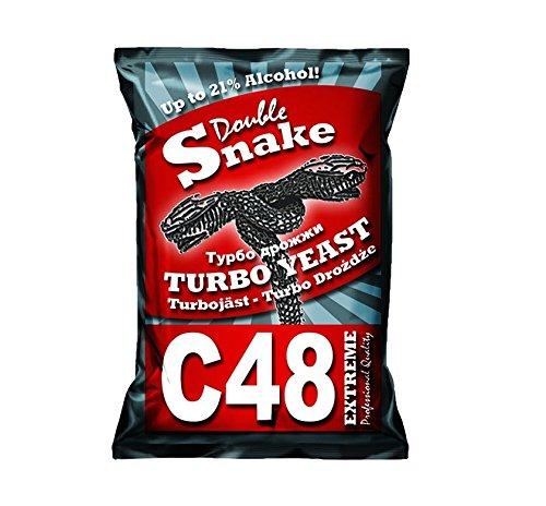 Turbo Lievito Double Snake C48, fino a 21% alcol, gaerhefe, vino Lievito della TURBO