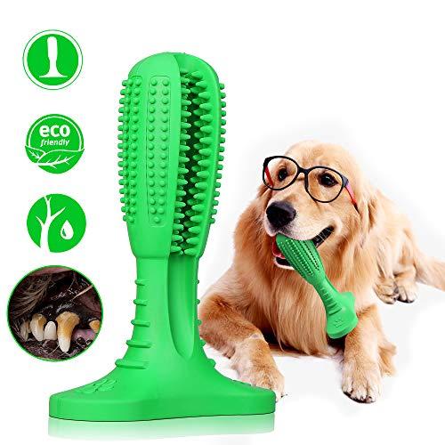 VEGKEY Hundezahnbürste, Pet Zahnbürste, Zahnpflege Beim Hund Zahnreinigung Kauspielzeug zur Zahnsteinentfernung für Kleine und Große Hunde (green1)