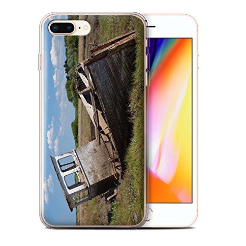 Stuff4 Gel TPU Hülle / Case für Apple iPhone 8 Plus / Altes Boot Muster / Britischen Küste Kollektion Schiffbrüchig
