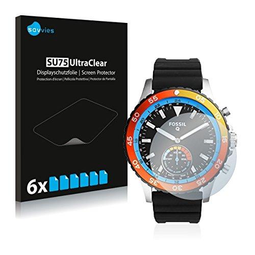 6x Savvies SU75 UltraClear Bildschirmschutz Schutzfolie für Fossil Q Crewmaster (ultraklar, mühelosanzubringen)
