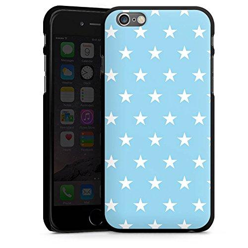 Apple iPhone 5s Housse Étui Protection Coque Petite étoile Bleu bébé Stars CasDur noir