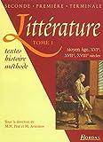 Littérature. XVIe, XVIIe, XVIIIe siècle, tome1