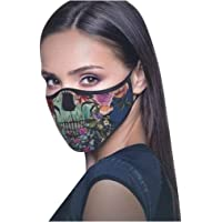 SANFASHION Men And Women Dust Facial Decoration Printed Reusable Breathable Face Protective Product Half Shields Dust Face Anti Pollution Covers Outdoor Sun protection 2020 Latest