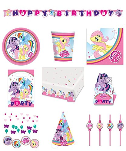 71-teiliges-party-set-my-little-pony-teller-becher-servietten-tischdecke-einladungskarten-partykette