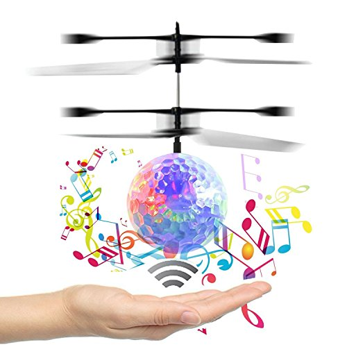 Over the hillⅢ Flying Ball, Teenagers Colorful Flyings for Kid's Toy ,RC infrared Induction Helicopter Ball Built-in Shinning LED Lighting for Kids