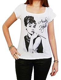 Audrey Hepburn :, tee shirt femme, imprimé célébrité,Blanc, t shirt femme,cadeau
