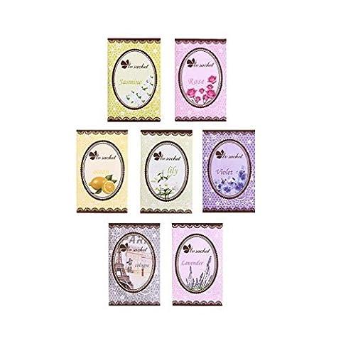 Lsv-8 7 Taste Scented Fragrance Home Wardrobe Drawer Car Perfume Sachet Bag Mini