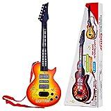 YAKOK 4 Cuerdas Guitarra Electrica Niños Guitarra Bebe Juguete para Niños y Niñas...