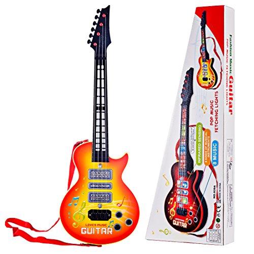 YAKOK 4 Cuerdas Guitarra Electrica Niños Guitarra Bebe Juguete para Niños y Niñas 2-5 años