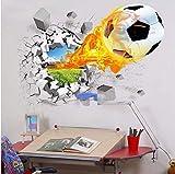 Décoration de chambre à coucher d'école d'école de pièce d'école de maison de mur de ballon de football de mur de rugby de jeu 3D50-70cm