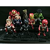 Kids Nations 8 Pcs Toys Marvel Avengers Infinity War Iron Man, Spiderman, Iron Man Huk Buster, Hulk, Captain America, Thor, Groot, Ant Man Action Figure Toy Set With Stand