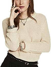 Scotch & Soda Maison Fluffy Crew Neck Pullover Knit, Suéter para Mujer