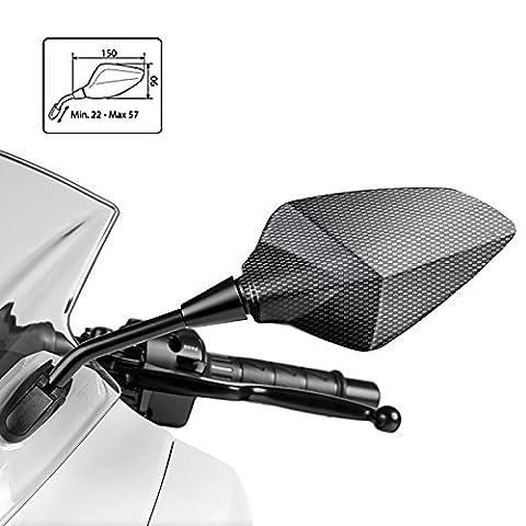 Rétroviseur Puig RS1 Honda CBR 600 F 91-13 (paire) look carbone