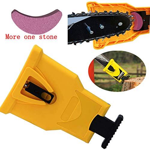 Kettensägen-Schärfwerkzeug Einzigartiges, tragbares, proprietäres Kettensägen-Schärfkit zum schnellen Schärfen von Steinschleifwerkzeugen (einschließlich 2-teiliger Steine)