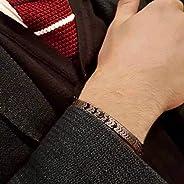 DAIDAISL Luxury Wristband Men Bracelet Irregular Beads Braided Macrame Adjustable Charm Bracelet For Men Jewel