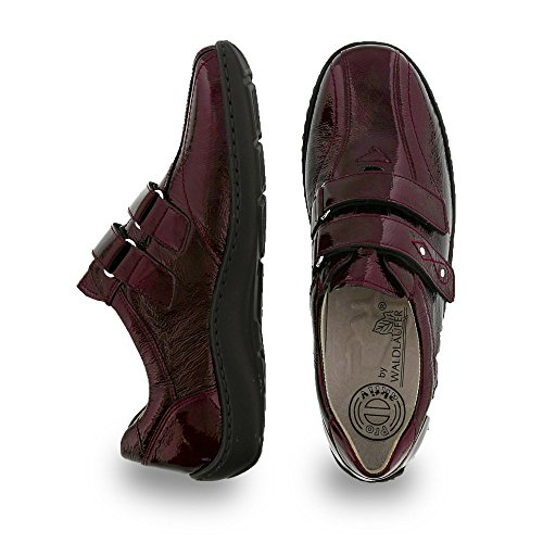 Waldlaufer Womens Henni 496301 Leather Shoes Burgundy