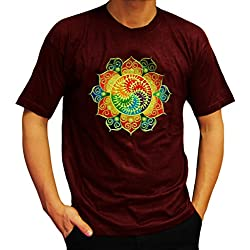 Camiseta cuello redondo Flor Espiral