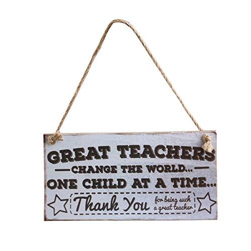 er ändern die hängende Zeichen-Plakette des Weltlehrertags ()