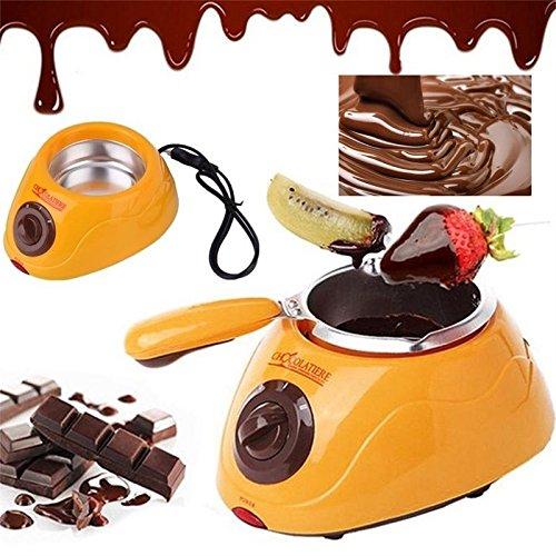 Schokolade schmelzen Topf moonvvin Elektrische Schokoladen-Fondue Brunnen Topf mit über 30Gratis Zubehör und 12Rezepte