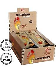 30pares cálido Pack Suela calentador L | agradable wärmepads | tejido de rizo suave y cojín de calor | 7horas de calor Reconfortante |, 30unidades, tamaño L