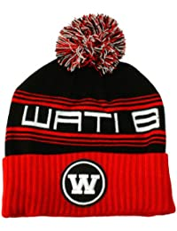 Wati B - Bonnet Homme Triple Beanie - Black/Red