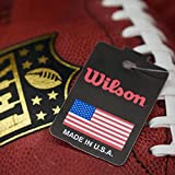 Wilson American Football, Official NFL Game Ball, Standard Size, NFL DUKE GAME LEATHER FOOTBALL, Brown, WTF1100