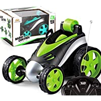 YENJOS RC Coche,Los niños se refrescan 360 Grados girando el Control Remoto inalámbrico Stunt Tumble Car Toy Woks eléctricos