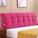Unbekannt JXQ Bedside Large Cushion Double Bedingtes Bettkissen Softpack-Bett-Set Rückenkissen Massivholzbett Kopfstütze, für das Bett mit Kopfteil (Color : Rose red, Size : 140 * 58 * 10)